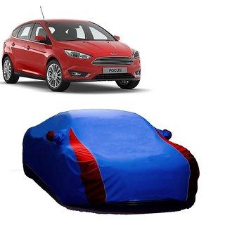 RideZ UV Resistant Car Cover For Renault Fluence (Designer Blue  Red )
