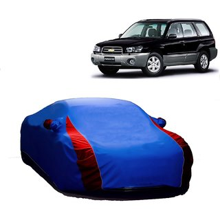 RideZ UV Resistant Car Cover For Ford Focus (Designer Blue  Red )