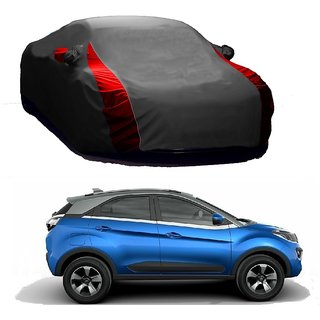 InTrend Water Resistant  Car Cover For Volkswagen Polo (Designer Grey  Red )