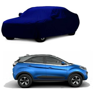 RideZ UV Resistant Car Cover For Mercedes Benz M-Class (Blue With Mirror )