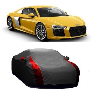 RideZ UV Resistant Car Cover For Hyundai SantaFe (Designer Grey  Red )