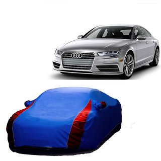 RideZ UV Resistant Car Cover For Tata Sumo Grande (Designer Blue  Red )