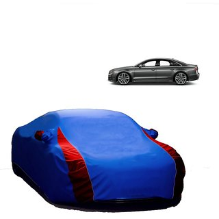 RideZ UV Resistant Car Cover For Nissan Sunny (Designer Blue  Red )