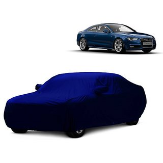 DrivingAID Car Cover For Chevrolet Captiva (Blue With Mirror )