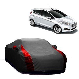 RideZ UV Resistant Car Cover For Skoda Fabia (Designer Grey  Red )