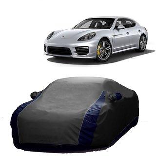 RideZ UV Resistant Car Cover For Maruti Suzuki Ritz (Designer Grey  Blue )