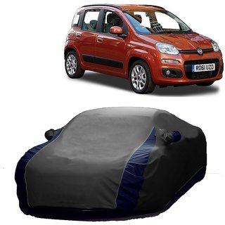 RideZ UV Resistant Car Cover For SsangYong Rodius (Designer Grey  Blue )