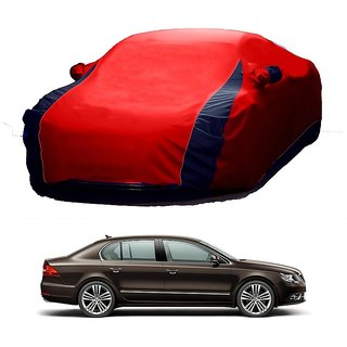 RideZ UV Resistant Car Cover For Hyundai Xcent (Designer Red  Blue )