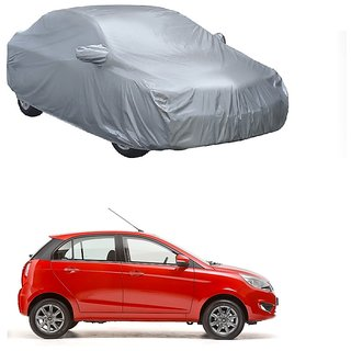 RideZ All Weather  Car Cover For Chevrolet Beat 2015 (New Model) (Silver With Mirror )