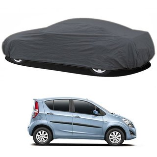 RideZ UV Resistant Car Cover For Toyota Sienna (Grey Without Mirror )