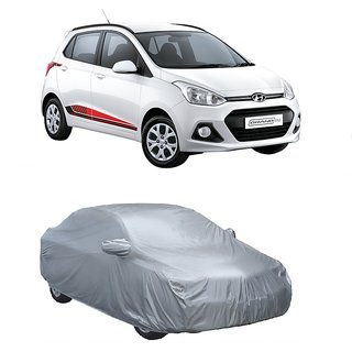 RideZ UV Resistant Car Cover For Maruti Suzuki Gypsy (Silver With Mirror )