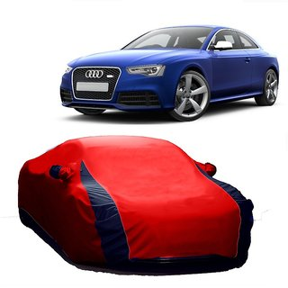 RoadPluS Car Cover For Hyundai SantaFe (Designer Red  Blue )