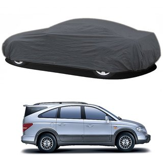 RideZ UV Resistant Car Cover For Mercedes Benz SL-Class (Grey Without Mirror )