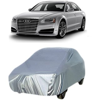 RideZ UV Resistant Car Cover For Audi A8 (Silver Without Mirror )