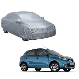 MotRoX Car Cover For Fiat Punto Evo (Silver With Mirror )