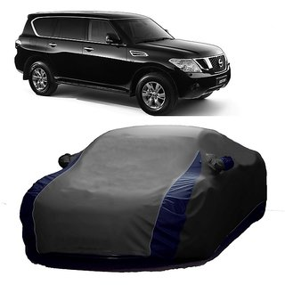 AutoBurn Water Resistant  Car Cover For Maruti Suzuki S-Cross (Designer Grey  Blue )