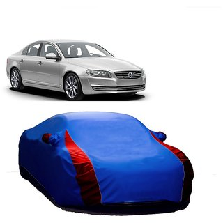 RideZ UV Resistant Car Cover For Skoda Superb (Designer Blue  Red )