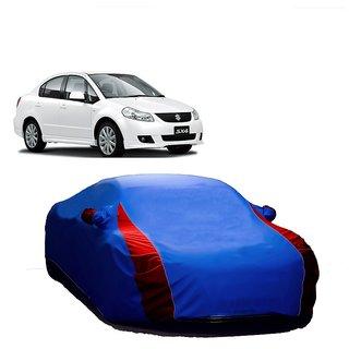 RideZ UV Resistant Car Cover For Maruti Suzuki Swift Dzire (Designer Blue  Red )
