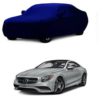 Bull Rider Water Resistant  Car Cover For Mahindra Vertio (Blue With Mirror )