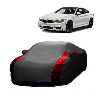 AutoBurn Water Resistant  Car Cover For Chevrolet Optra (Designer Grey  Red )