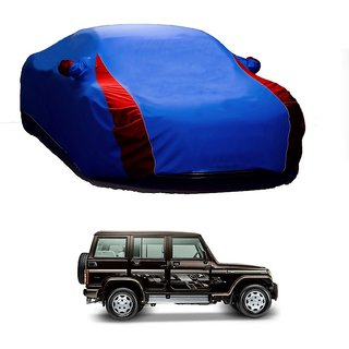 MotRoX UV Resistant Car Cover For Mercedes Benz Benz A (Designer Blue  Red )