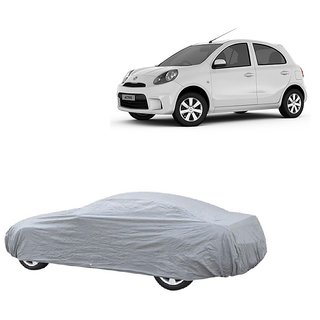 DrivingAID UV Resistant Car Cover For Volkswagen Polo (Silver Without Mirror )