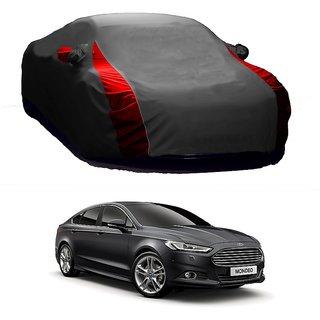 MotRoX UV Resistant Car Cover For Audi Q7 (Designer Grey  Red )