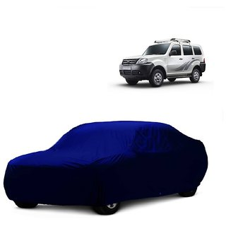 MotRoX UV Resistant Car Cover For Mahindra Quanto (Blue Without Mirror )