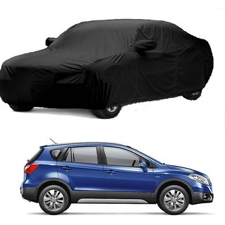 RideZ UV Resistant Car Cover For Tata Sonata (Black With Mirror )