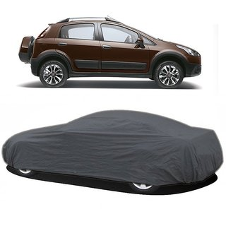 DrivingAID UV Resistant Car Cover For Fiat Aventura (Grey Without Mirror )