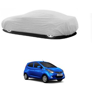 DrivingAID Water Resistant  Car Cover For Hyundai Elite I20 (Silver Without Mirror )