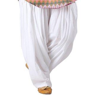 KRISO White Cotton Patiala Salwar