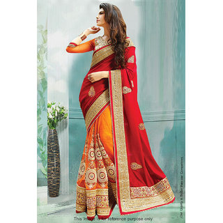 1 Stop Fashion Multicolor Georgette Embroidered Saree With Blouse