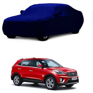 Bull Rider Water Resistant  Car Cover For Mahindra XUV 500 (Blue With Mirror )