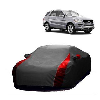 AutoBurn Water Resistant  Car Cover For Fiat Palio (Designer Grey  Red )