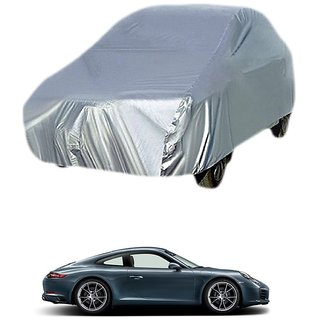 MotRoX UV Resistant Car Cover For Audi A3 (Silver Without Mirror )