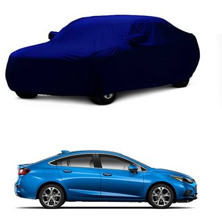 Bull Rider Water Resistant  Car Cover For Hyundai Xcent (Blue With Mirror )
