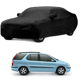 RoadPluS Car Cover For Honda Jazz (Black With Mirror )