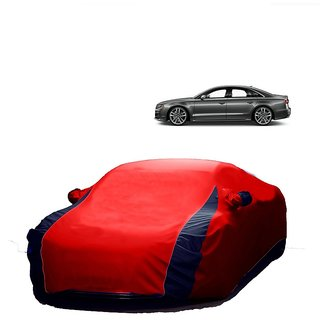 RoadPluS Car Cover For Tata Sumo Grande (Designer Red  Blue )