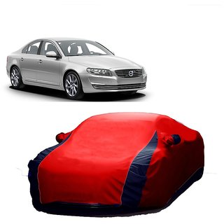 RoadPluS Car Cover For Nissan Sunny (Designer Red  Blue )