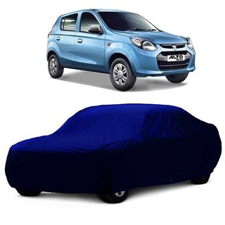 RoadPluS Car Cover For Maruti Suzuki Alto (Blue Without Mirror )