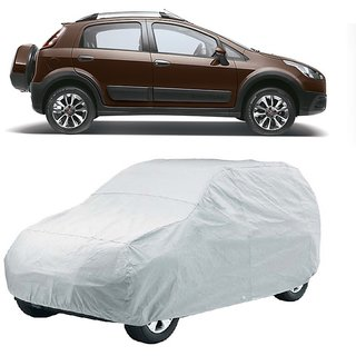 DrivingAID Car Cover For Fiat Aventura (Silver Without Mirror )