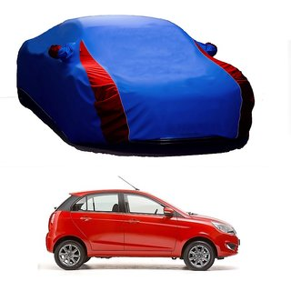 MotRoX UV Resistant Car Cover For Mercedes Benz Benz A-Class (Designer Blue  Red )