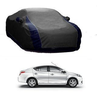 RideZ UV Resistant Car Cover For Mahindra Thar (Designer Grey  Blue )