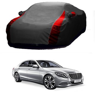 RideZ UV Resistant Car Cover For Opel Corsa (Designer Grey  Red )