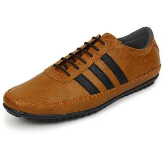 Buwch Men Tan Synthetic Leather Casual Shoes