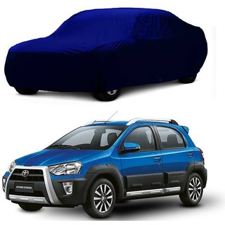 RoadPluS UV Resistant Car Cover For Chevrolet Enjoy (Blue Without Mirror )