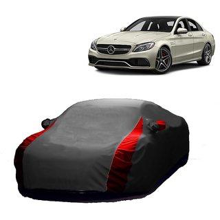 RideZ UV Resistant Car Cover For Nissan Micra Active (Designer Grey  Red )