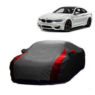 RideZ UV Resistant Car Cover For BMW ML (Designer Grey  Red )