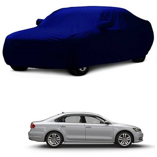 DrivingAID Car Cover For Mahindra Kuv100 (Blue With Mirror )